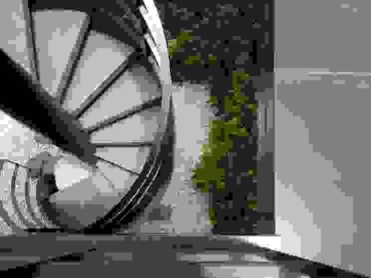 構築設計 Modern corridor, hallway & stairs