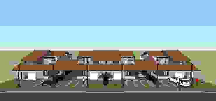 Fachada de conjunto Casas modernas de MARATEA estudio Moderno