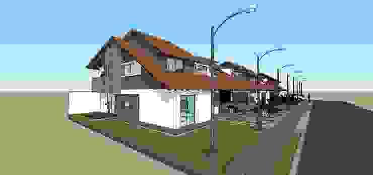 Perspectiva de conjunto Casas modernas de MARATEA estudio Moderno