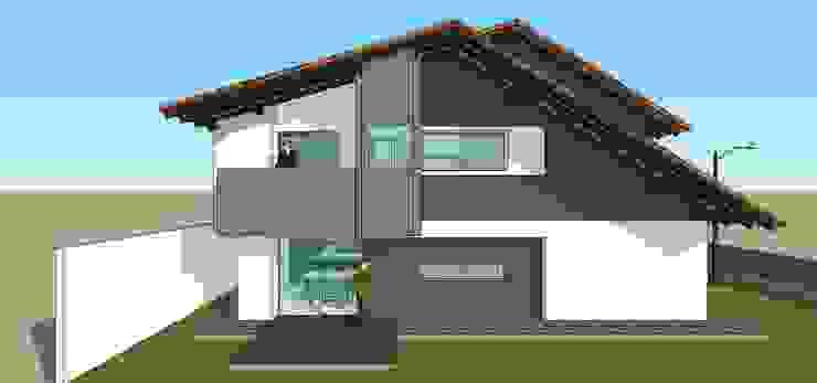 Fachada lateral de conjunto Casas modernas de MARATEA estudio Moderno