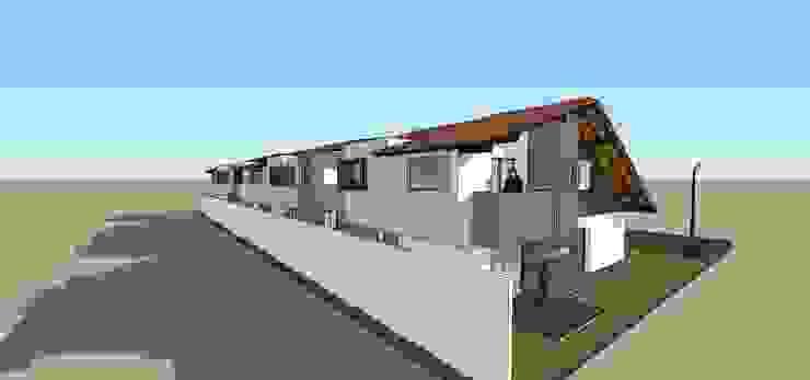 Perspectiva posterior de conjunto Casas modernas de MARATEA estudio Moderno