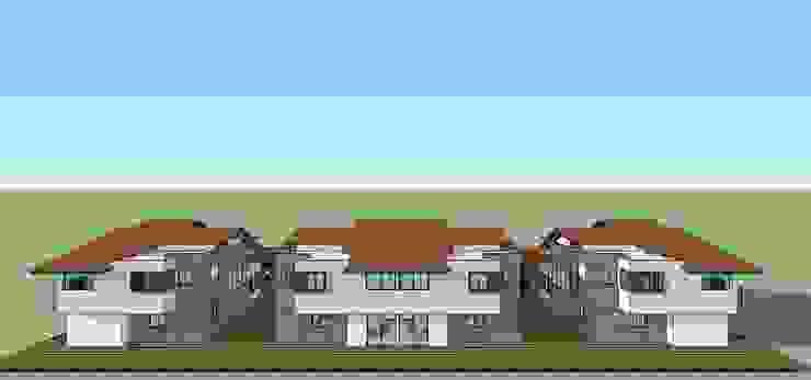 Fachada posterior de conjunto Casas modernas de MARATEA estudio Moderno