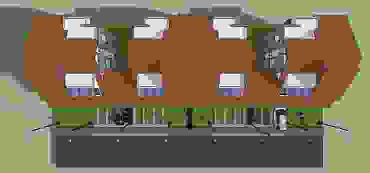 Planta de techos de conjunto Casas modernas de MARATEA estudio Moderno