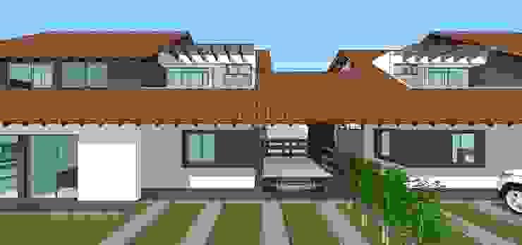 Fachada principal Casas modernas de MARATEA estudio Moderno