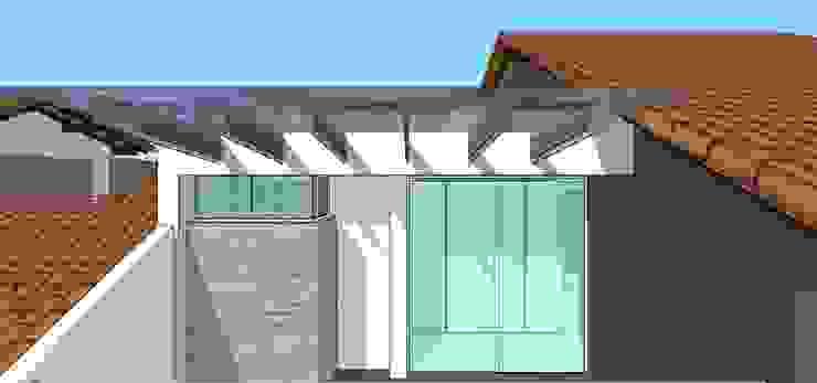 Detalle de terraza Casas modernas de MARATEA estudio Moderno