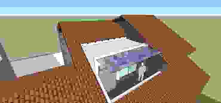 Terraza de planta alta Balcones y terrazas de estilo moderno de MARATEA estudio Moderno