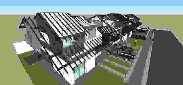 Detalle de estructura de techos Casas modernas de MARATEA estudio Moderno
