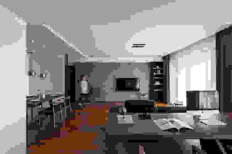 開放式書房: 現代  by 一水一木設計工作室, 現代風