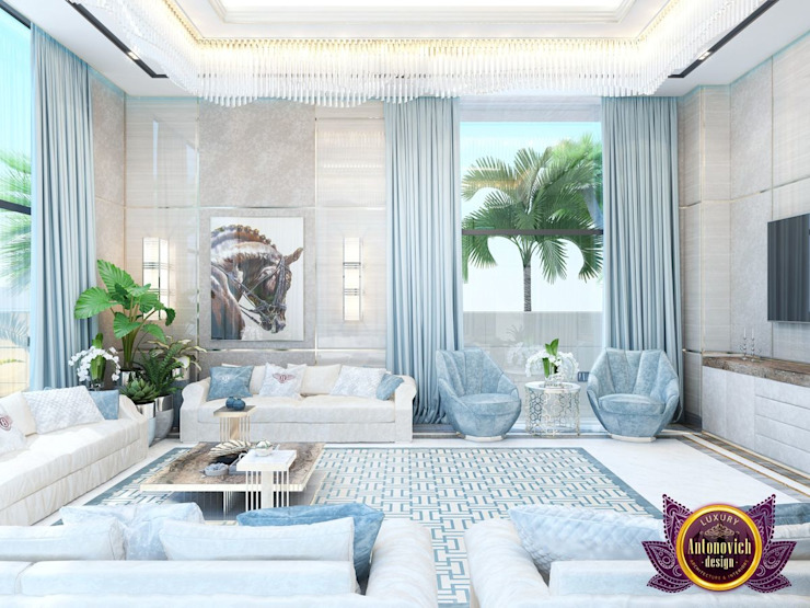 ​ Modern Interior living room of Katrina Antonovich Modern living room by Luxury Antonovich Design Modern