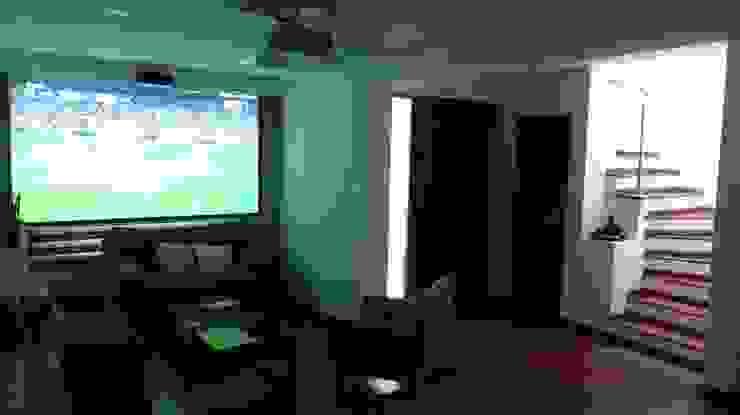 Remodelación casa Bogota Salas multimedia de estilo moderno de Erick Becerra Arquitecto Moderno