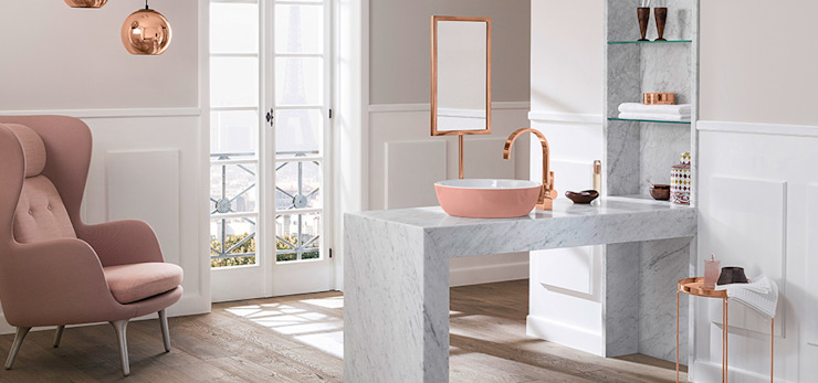 Lavatório e torneira VILLEROY & BOCH Aprifer Casas de banho modernas