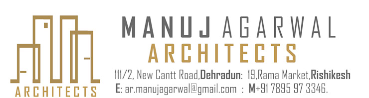 Indegenious House-Architect's house cum Residence,Dehradun Country style study/office by Manuj Agarwal Architects Country