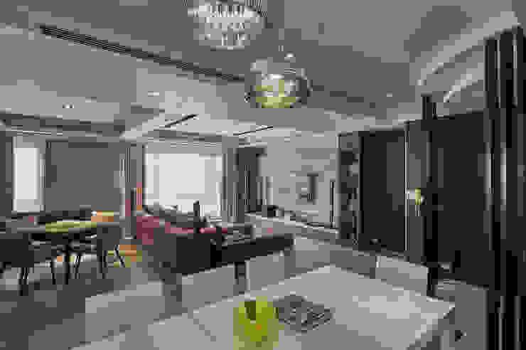 現代飯店風新店潘宅 现代客厅設計點子、靈感 & 圖片 根據 舍子美學設計有限公司 現代風