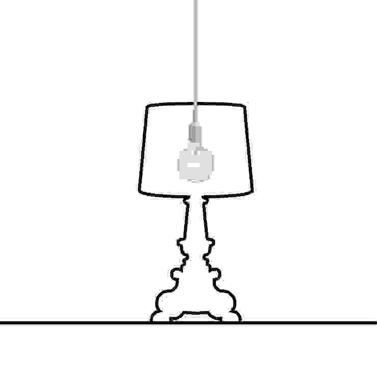 Lamp Ligne sticker tafellamp van Wisse Trooster - qoowl Industrieel Kunststof