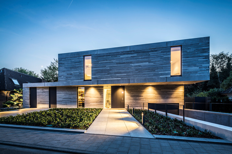 Residential House Cologne Hahnwald Modern houses by Corneille Uedingslohmann Architekten Modern Stone