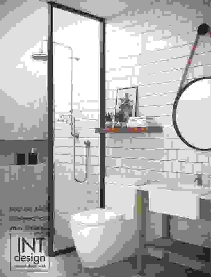 ห้องน้ำแสนสุข: ที่เรียบง่าย  โดย Inthenorth Design Co.,Ltd, มินิมัล เซรามิค