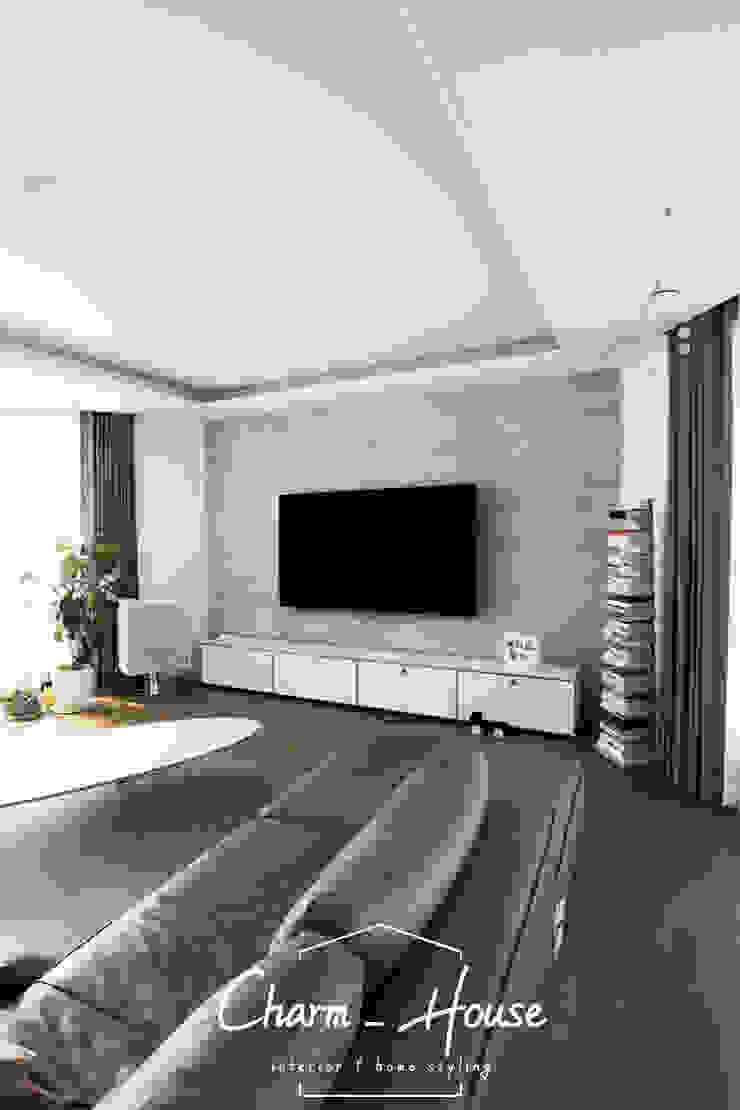 이스트팰리스 55평 모던스타일 미디어 룸 by CHARM_HOUSE 모던