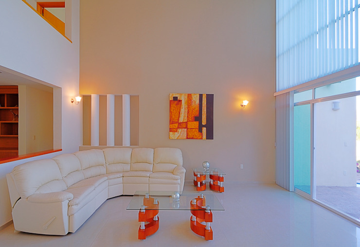 Ruang Keluarga Modern Oleh Excelencia en Diseño Modern Batu Bata