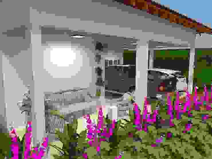 Fachada Frontal Atelie 3 Arquitetura Casas campestres Branco