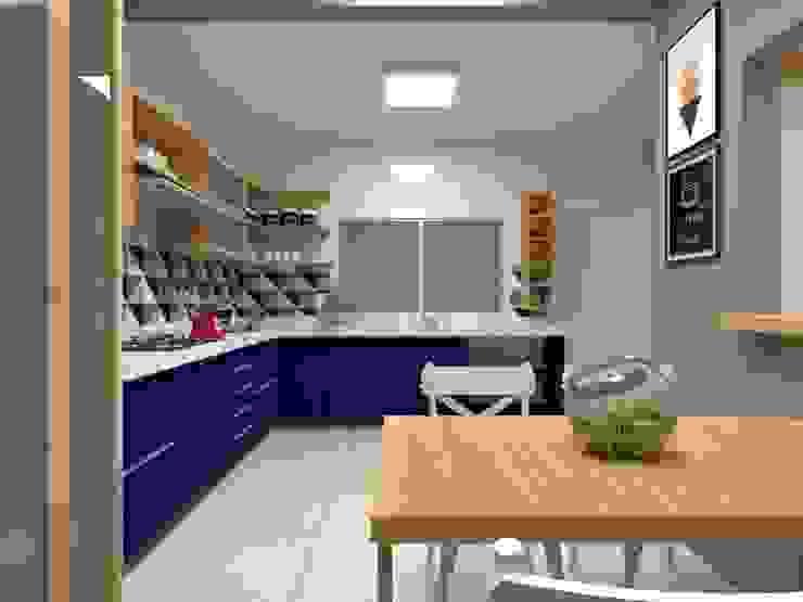 Cozinha Atelie 3 Arquitetura Cozinhas campestres MDF Efeito de madeira