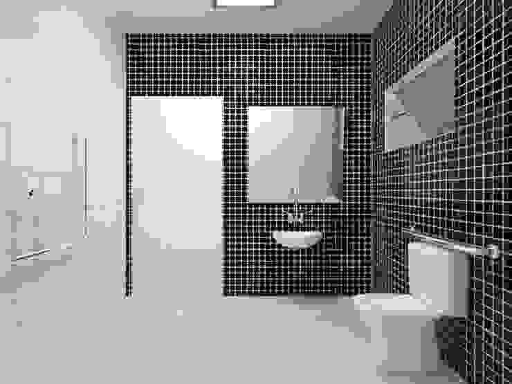 Banheiro PNE Banheiros campestres por Atelie 3 Arquitetura Campestre Cerâmica