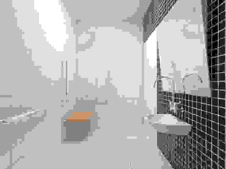 Banheiro PNE Atelie 3 Arquitetura Banheiros campestres Cerâmica Preto