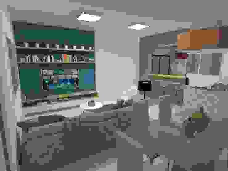 Sala de estar Atelie 3 Arquitetura Salas de estar campestres