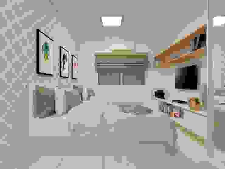 Dormitorios de estilo  por Atelie 3 Arquitetura , Rural Tablero DM