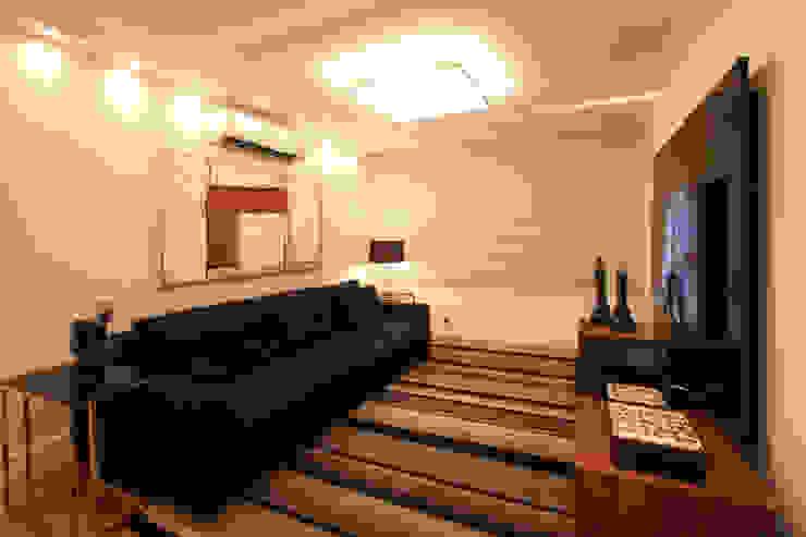 Sala de TV Arquinovação - Projetos e Obras Salas multimídia modernas