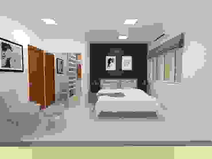 Suíte Master Atelie 3 Arquitetura Quartos campestres MDF Azul