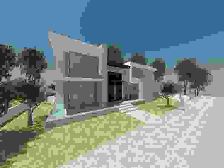 Fachada de casa homify Casas modernas Bege