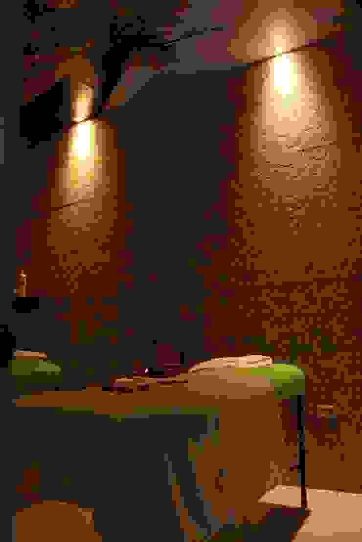 Sala de relajación de Lina Rosas Diseño Interior Ecléctico Bambú Verde