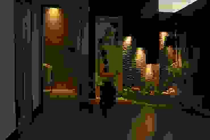 Lobbie de Lina Rosas Diseño Interior Ecléctico Bambú Verde