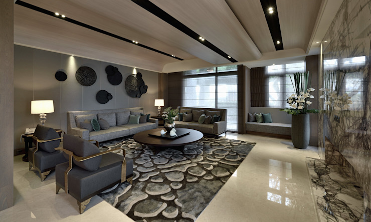 Eclectic style living room by POSAMO十邑設計 Eclectic