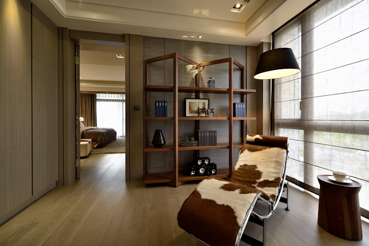 Eclectic style study/office by POSAMO十邑設計 Eclectic