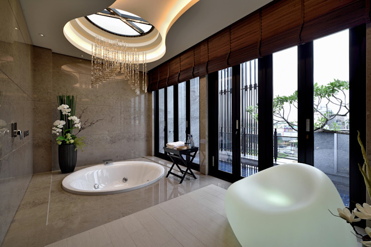 Eclectic style bathroom by POSAMO十邑設計 Eclectic