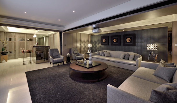 Eclectic style media room by POSAMO十邑設計 Eclectic