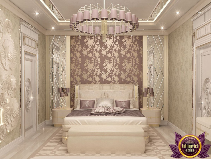 Luxury Antonovich Design Eclectic style bedroom