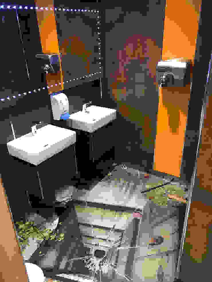 3D Flooring Lift Shaft Salle de bain moderne par Blue Butterfly Flooring Moderne