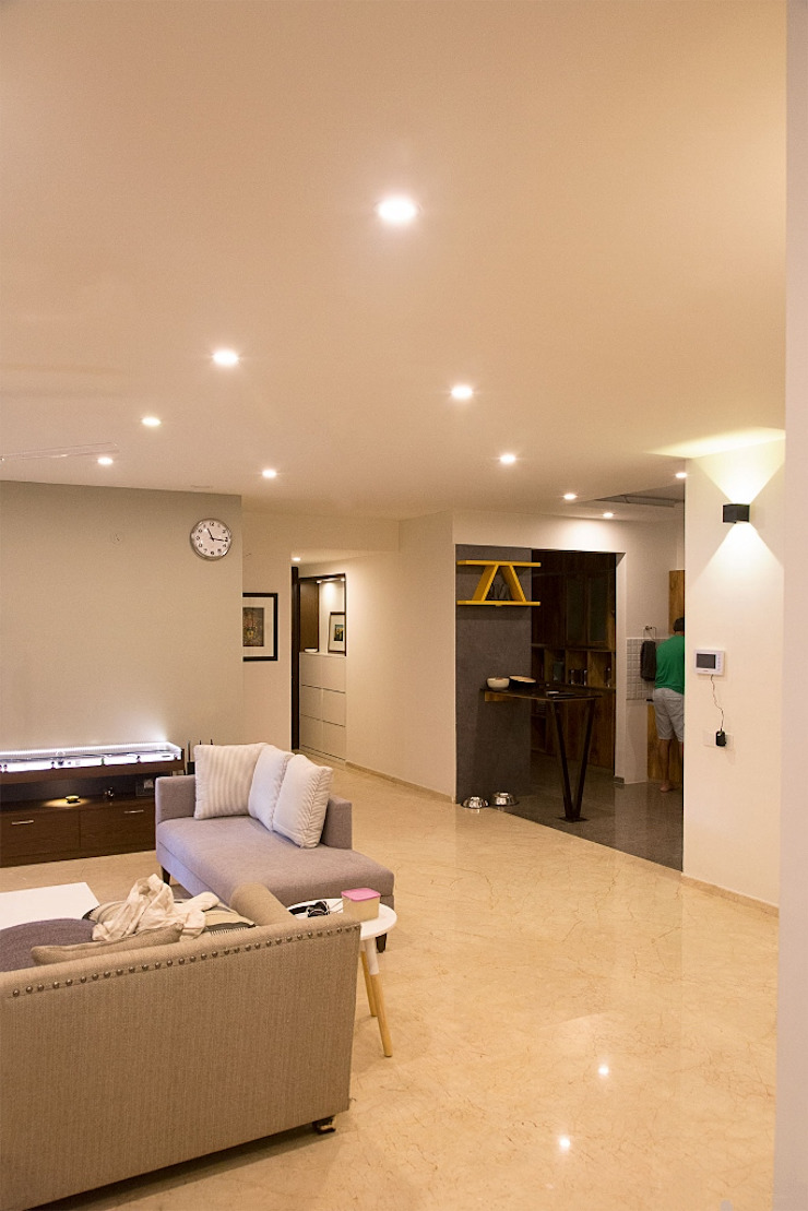 Living Area with Modern and Elegant look : modern  by Eraser IEB,Modern