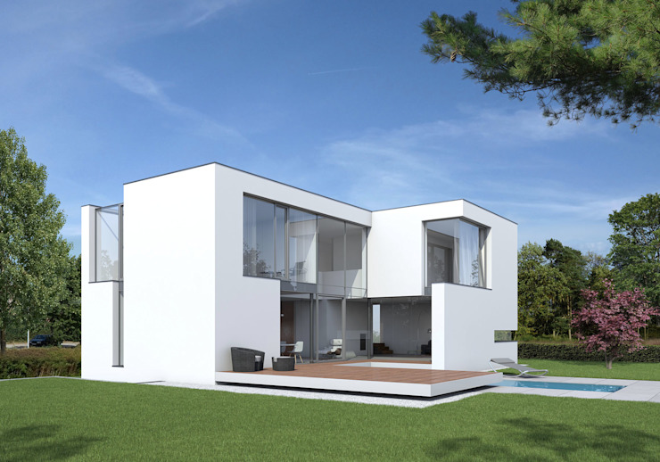 Gartenansicht Moderne Häuser von Fichtner Gruber Architekten Modern
