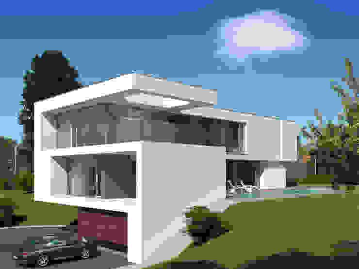 Straßenansicht Moderne Häuser von Fichtner Gruber Architekten Modern