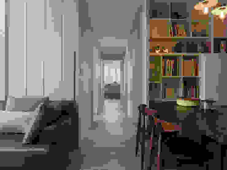 倍果設計有限公司 Colonial style corridor, hallway& stairs
