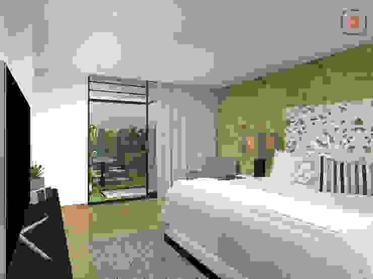 habitación principal Habitaciones modernas de homify Moderno