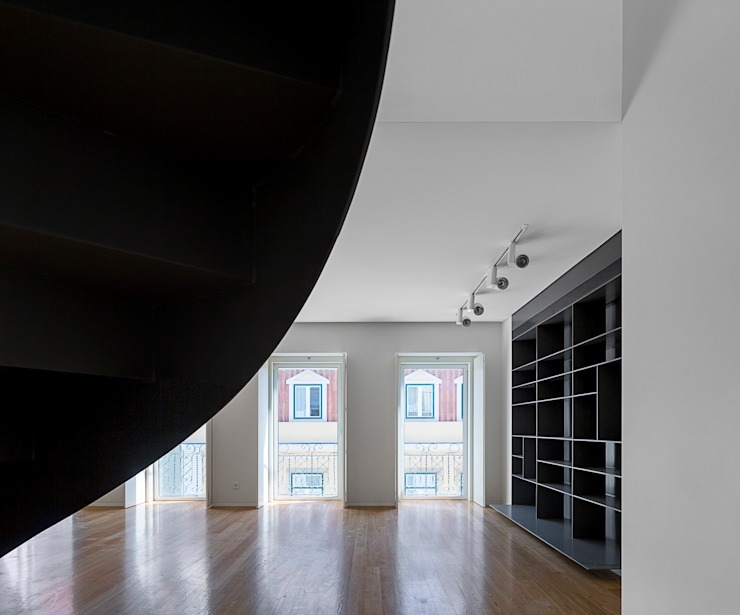 RRJ Arquitectos 现代客厅設計點子、靈感 & 圖片