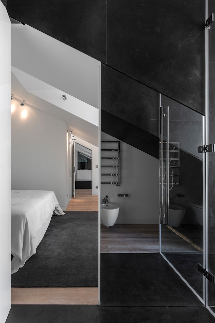 RRJ Arquitectos Modern style bathrooms