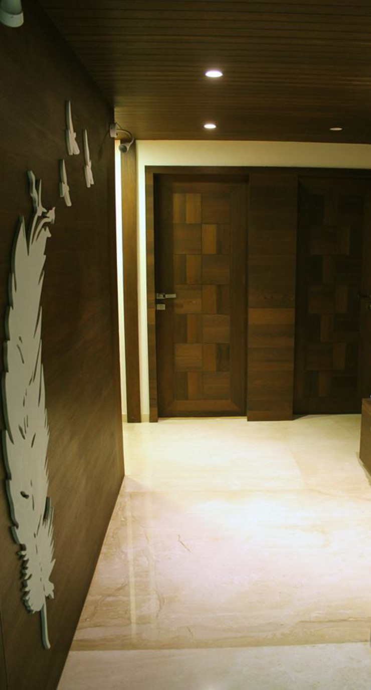 Interiors Modern corridor, hallway & stairs by Galaxy infra interior design consultants pvt.ltd Modern