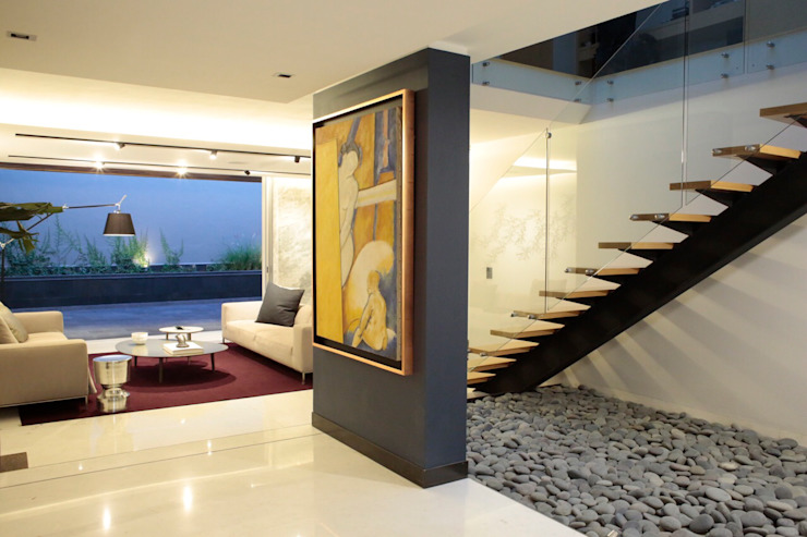 Modern corridor, hallway & stairs by MM estudio interior Modern