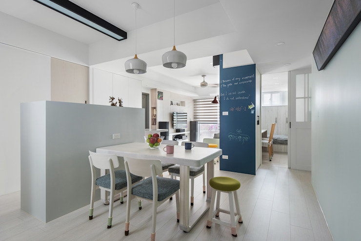 Scandinavian style dining room by 倍果設計有限公司 Scandinavian