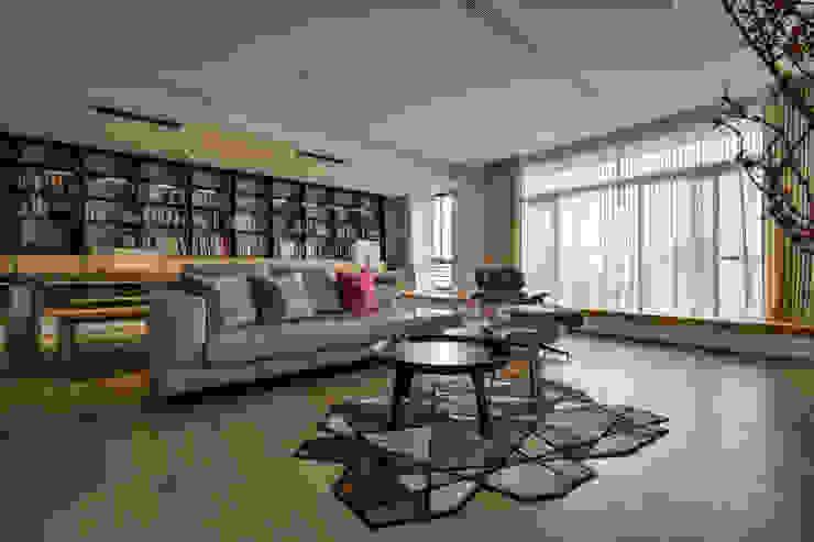 格子趣 现代客厅設計點子、靈感 & 圖片 根據 參與室內設計有限公司 現代風